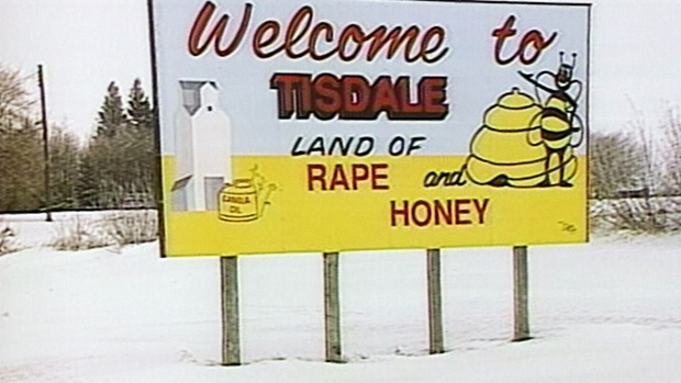 tisdale-sask-land-of-rape-and-honey-sign